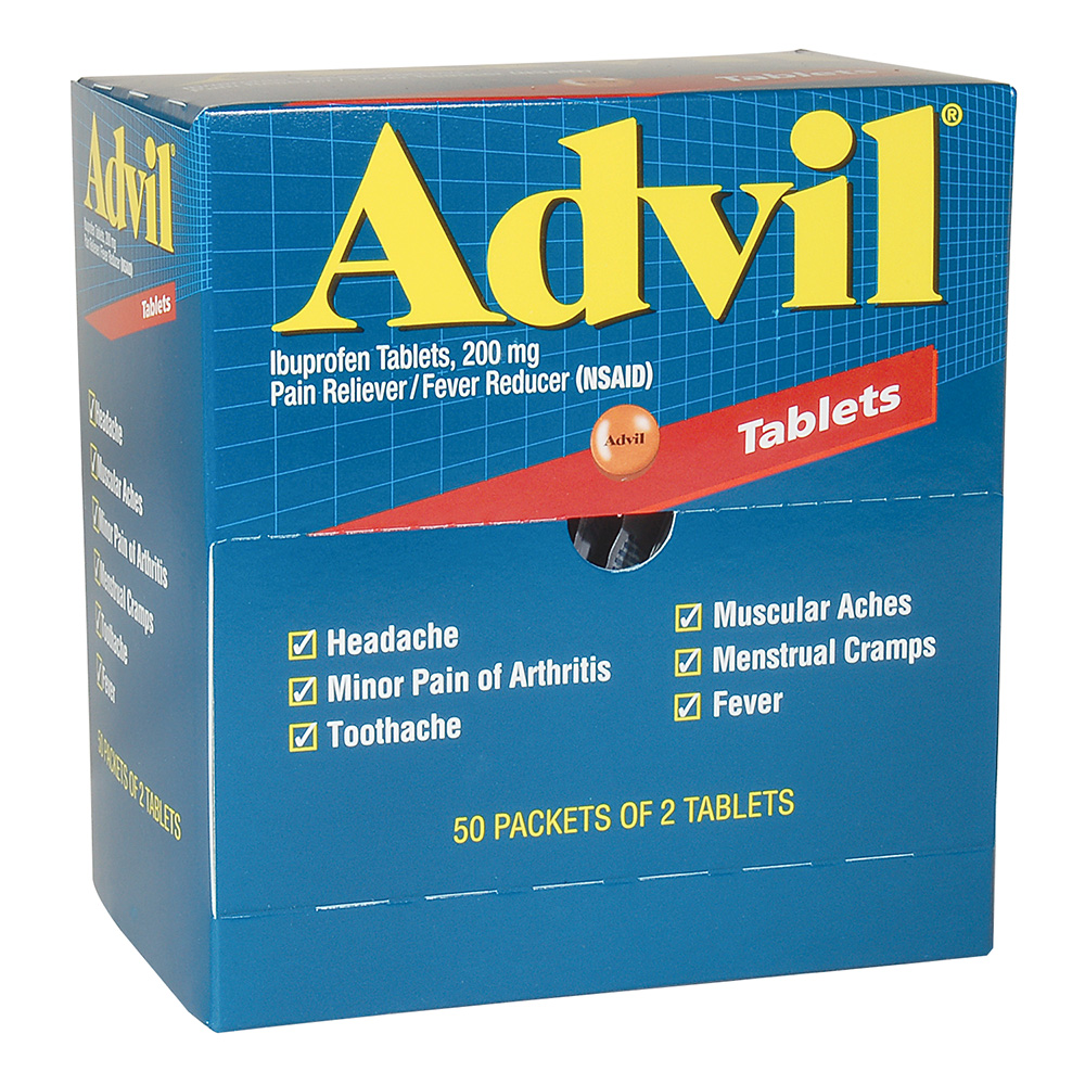 ADVIL, INDUSTRIAL PACK, 50/2'S