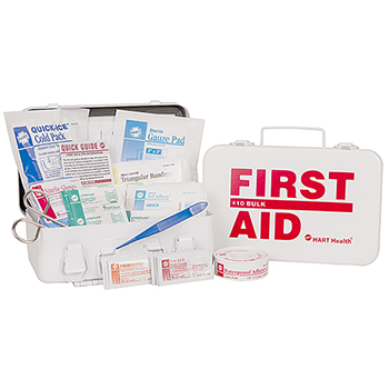 #10 BULK ECONO FIRST AID KIT, HART, METAL BOX