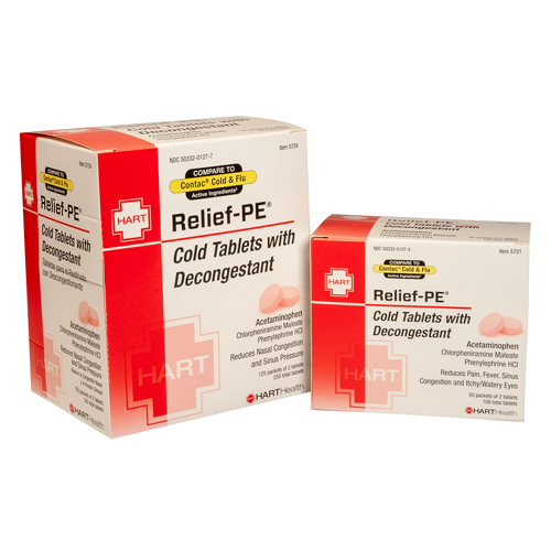 Relief-PE, Cold Caplets, HART industrial pack