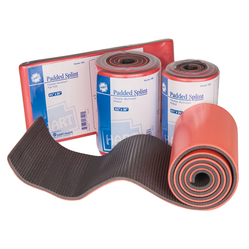 Padded Splints, HART, lightweight, cushioned malleable-strip splint, reusable, orange/grey