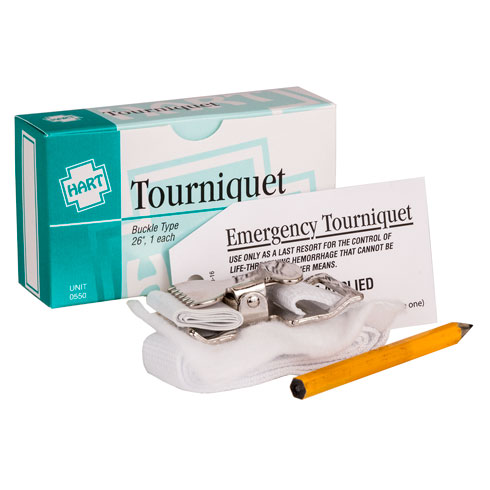 Tourniquet, nylon with metal clasp 1/unit