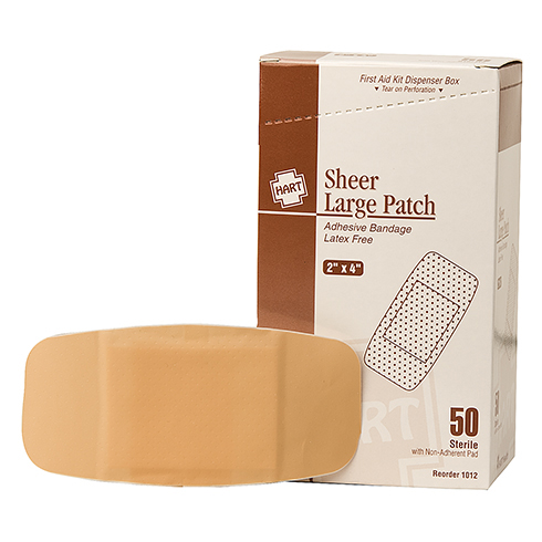 Sheer Large Patch, HART, adhesive bandages, 2
