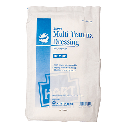 "Multi-trauma Dressing, Sterile, 10"" x 30"""