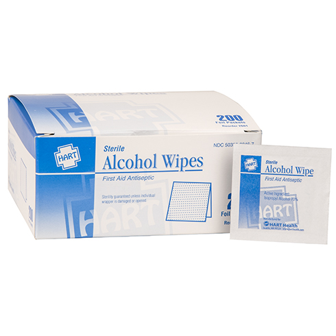 Alcohol Prep Pads, HART, 200 per box