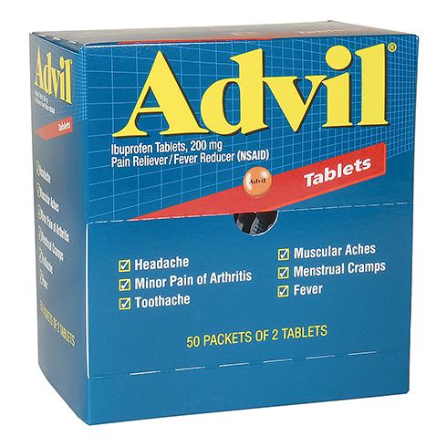 ADVIL INDUSTRIAL PACK,50/2'S