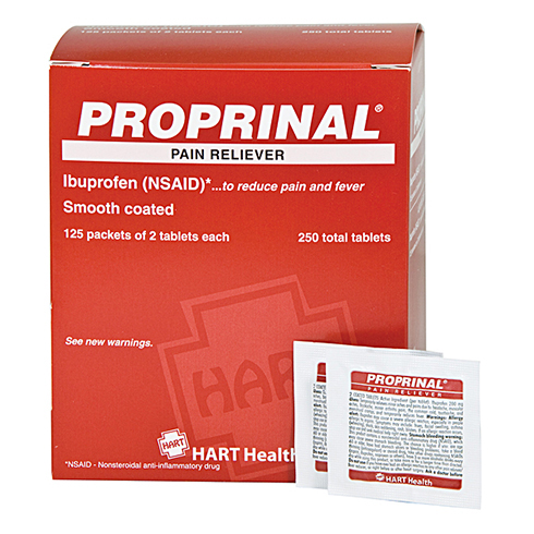 #5694: PROPRINAL, pain reliever, HART Industrial Pack, 125/2's per box