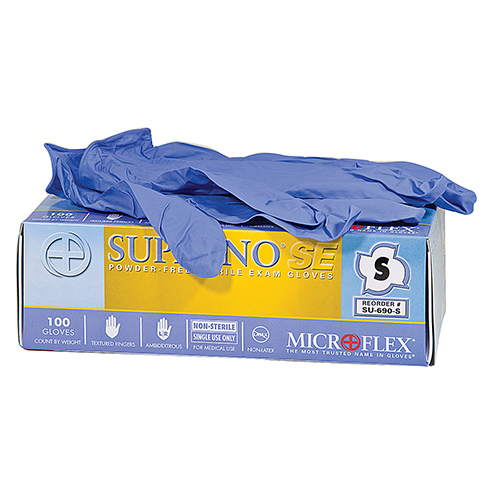 Supreno SE Nitrile Gloves, Microflex, 100 per box