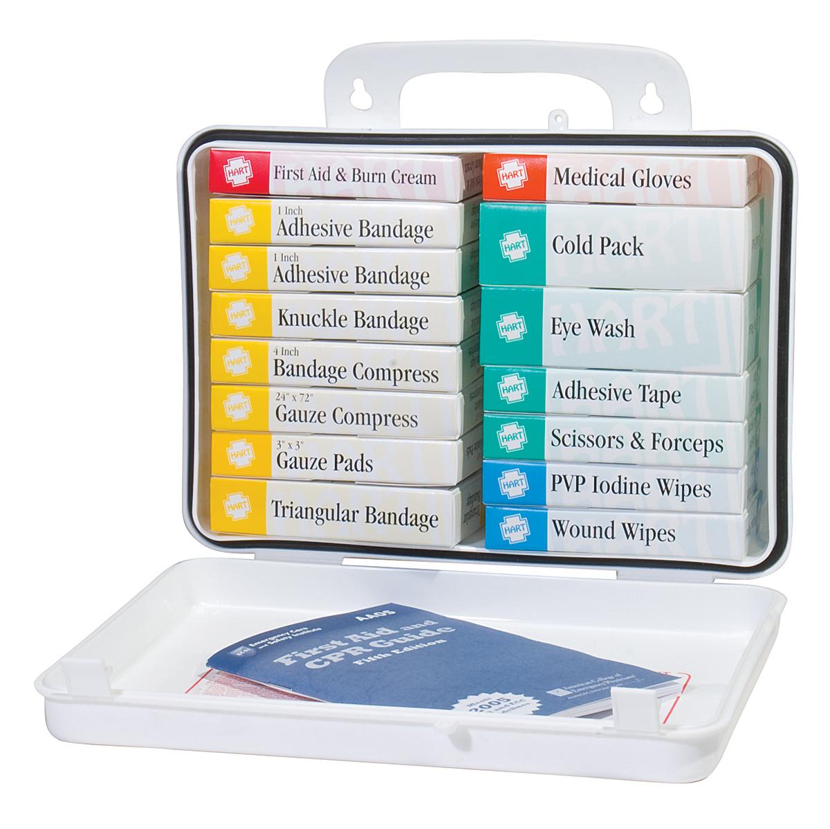16 Unit First Aid Kit, OSHA, HART, poly - FIRST AID KITS