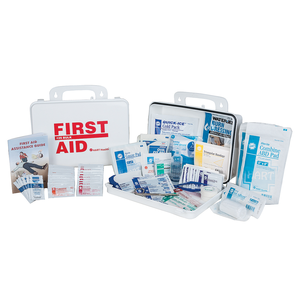 25 Bulk First Aid Kit, ANSI Class A, HART, Food Services